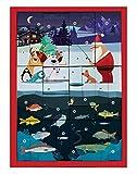 Fishing Gifts Angelweihnachtskalender, Adventskalender mit hochwertigem Anglerzubehör, Angelkalender für Profi- Angler mit coolem Wechselmotiv