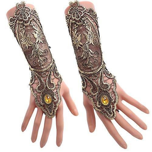 Jurxy Gothic Handstulpe mit Brosche Victorian...