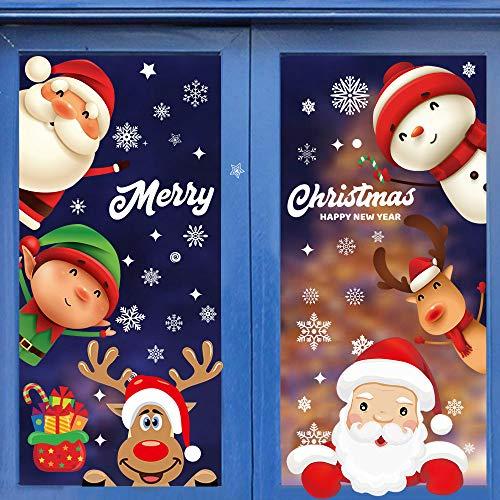 Fensterbilder Weihnachten Selbstklebend,Aivatoba...