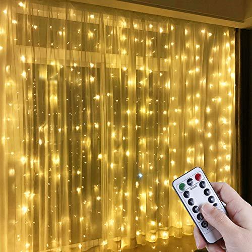 Anpro LED USB Lichtervorhang 3m x 3m, 300 LEDs USB...