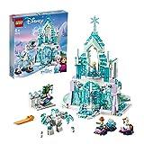 LEGO 43172 Disney Princess Frozen Elsas magischer Eispalast, Set mit Elsa & Anna Minipuppen und Spielplatz
