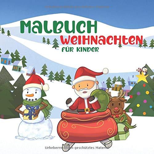 Malbuch Weihnachten Für Kinder: Niedliche...