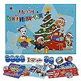 Undercover PPAT8024 Adventskalender für Kinder mit 24 Schreibwaren Überraschungen, Cooles Paw Patrol Motiv, ca. 45 x 32 x 3 cm