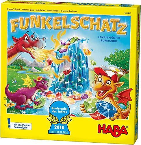 Haba 303402 - Funkelschatz Brettspiel, lustiges...