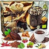 C&T Trinkschokolade Adventskalender 2020 Bio | 2x12 Sorten feinstes Schokoladenpulver aus 100% ökologischem Anbau | Kakao Trinkschoko Weihnachtskalender zum selber machen…