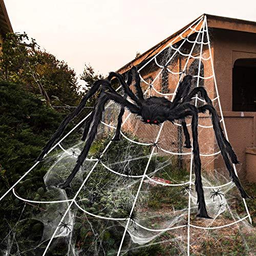 iZoeL Halloween Deko 700cm Riesige Spinnennetz +...