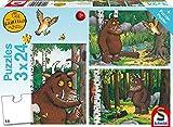 Schmidt Spiele Puzzle 56210 The Gruffalo Mein Freund der Grüffelo, 3 x 24 Teile Kinderpuzzle, bunt, 3 x 24Teile