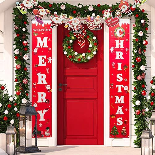 BUZIFU Frohe Weihnachten Banner, Willkommen...