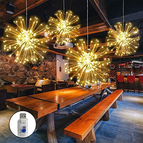LED Feuerwerk Licht, 4 Köpfe USB-betriebenen...