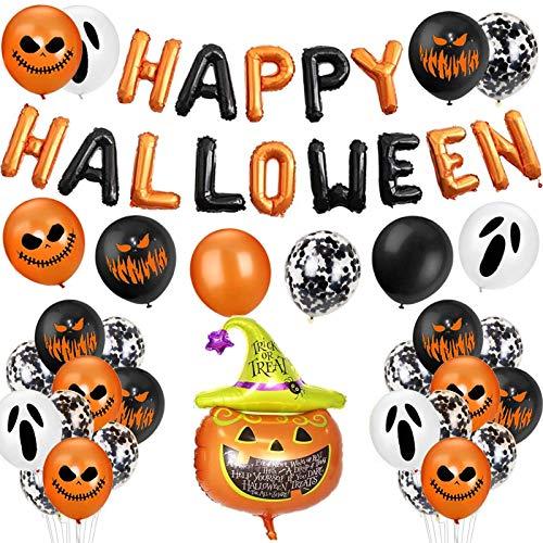 34 Stück Halloween Luftballons,Halloween Deko...