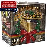 KALEA Bier-Adventskalender, 24 x 0,33 L Bierspezialitäten von Privatbrauereien aus Deutschland und 1 Verkostungsglas, neue Bestückung 2020, Geschenkidee zur Vorweihnachtszeit für alle Bierliebhaber