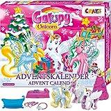 Craze Adventskalender 2020 GALUPY Unicorn Einhorn Spielfiguren wunderschöne Pferde Figuren zum Spielen + Zubehör 19450