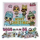 Undercover LOLO8024 Adventskalender für Mädchen mit 24 Schreibwaren Überraschungen, trendiges LOL Surprise Motiv, ca. 45 x 32 x 3 cm