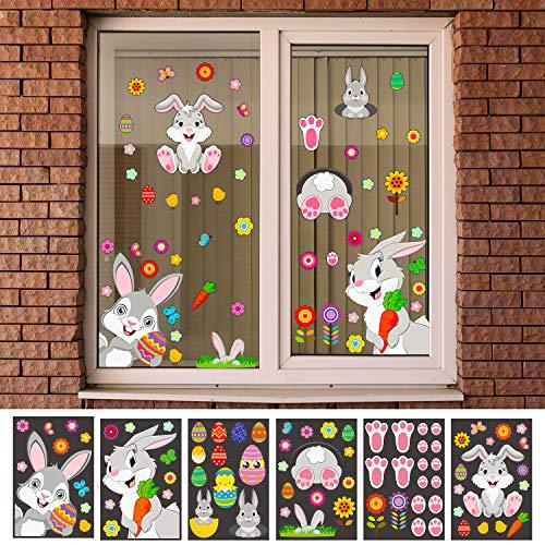 Outus 78 Stück Osterhasen Fensterdekoration...
