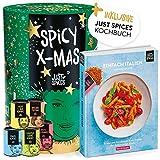 Just Spices Gewürz Adventskalender 2020 | Weihnachtskalender mit 24 Gewürzmischungen + italienisches Kochbuch | Gewürze Kalender als Geschenk für Männer und Frauen | insgesamt 4,5 kg