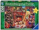 Ravensburger Puzzle 16558 16558-Heiligabend-1500 Teile, Teal/Turquoise Green