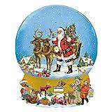 Adventskalender Schneekugel 330 g Edelvollmilch Schokolade Weihnachten