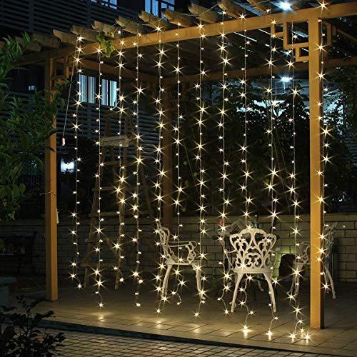 SALCAR LED Lichtervorhang 3x3m IP44 Vorhang...