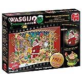Jumbo Spiele 19172 Wasgij Christmas 15 - Santa's Treat 2 x 1000 Piece Puzzles Brainteaser