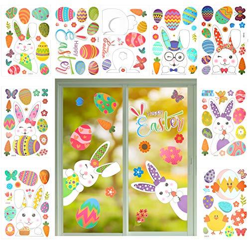 LAMEK 9 Ostern Fensterbilder Hasen...