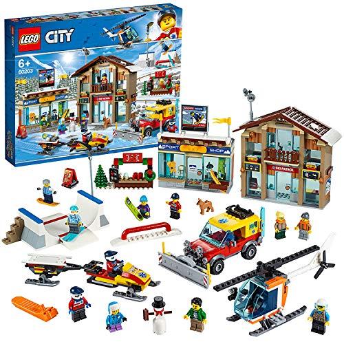 LEGO 60203 City Ski Resort mit Hubschrauber,...